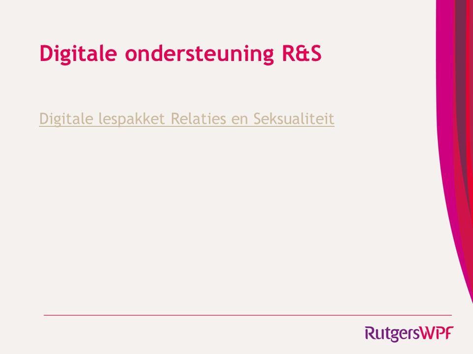 Digitale ondersteuning R&S