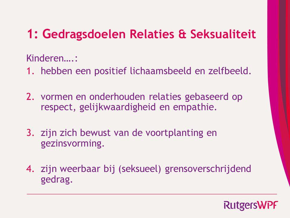 1: Gedragsdoelen Relaties & Seksualiteit