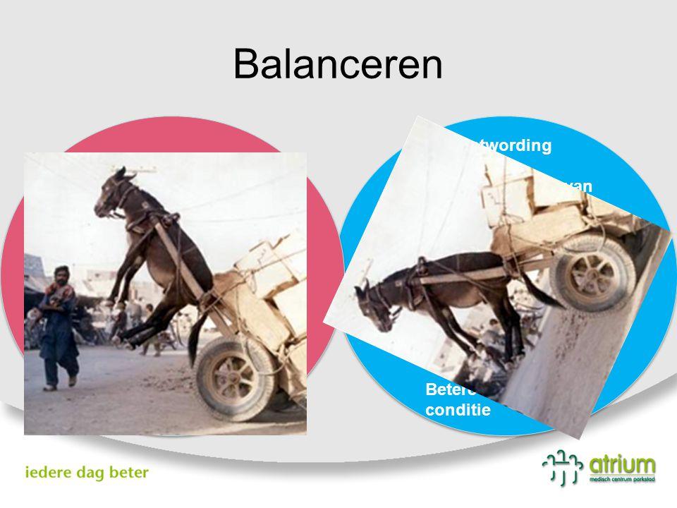Balanceren Bewustwording Bewuster maken van behandelplan