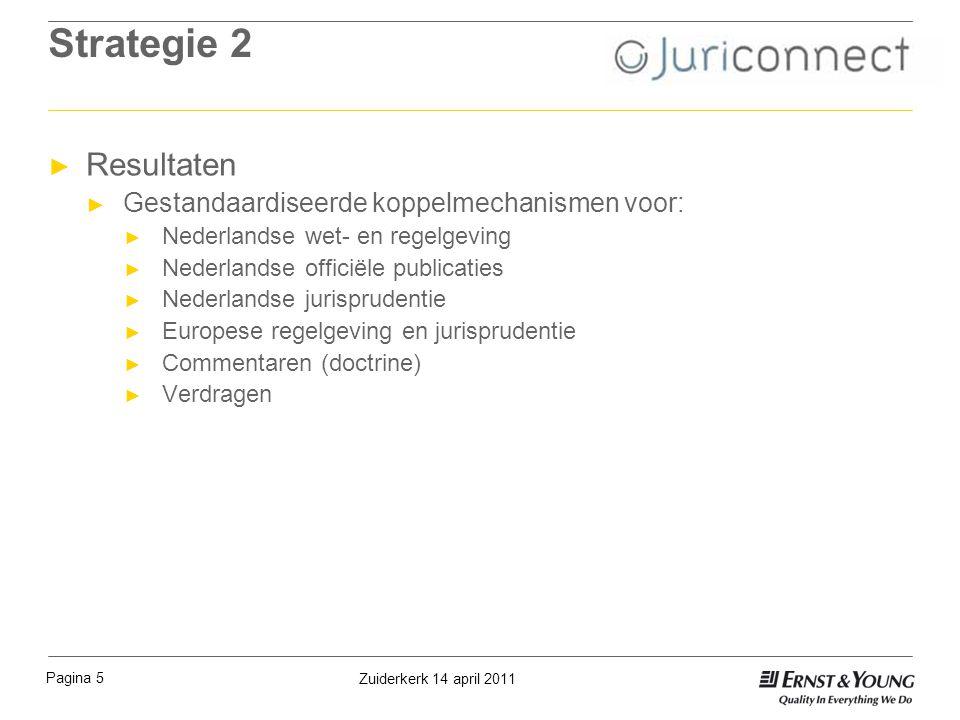Strategie 2 Resultaten Gestandaardiseerde koppelmechanismen voor: