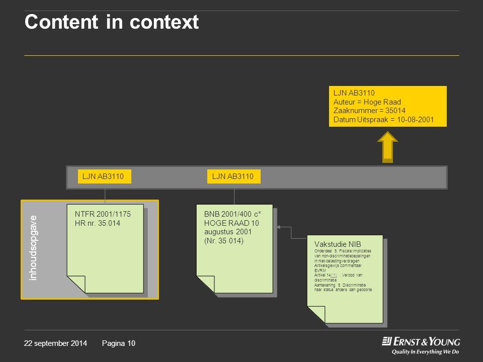 Content in context inhoudsopgave LJN AB3110 Auteur = Hoge Raad