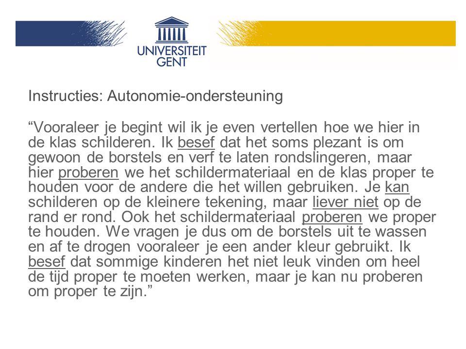 Instructies: Autonomie-ondersteuning
