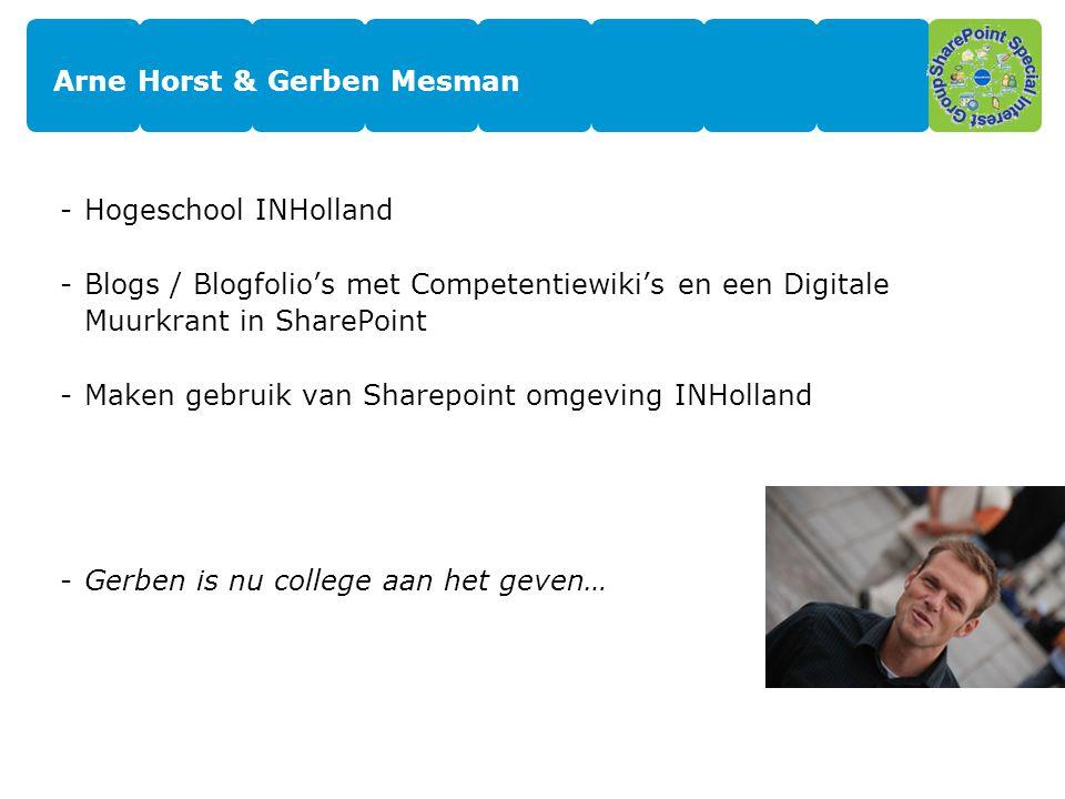 Arne Horst & Gerben Mesman