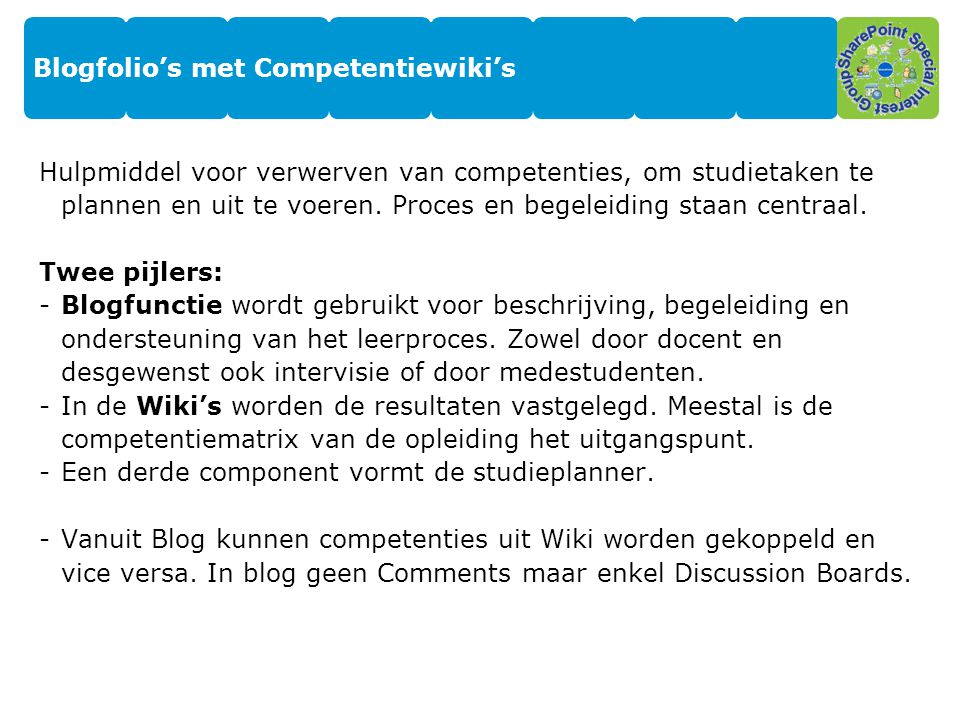 Blogfolio's met Competentiewiki's