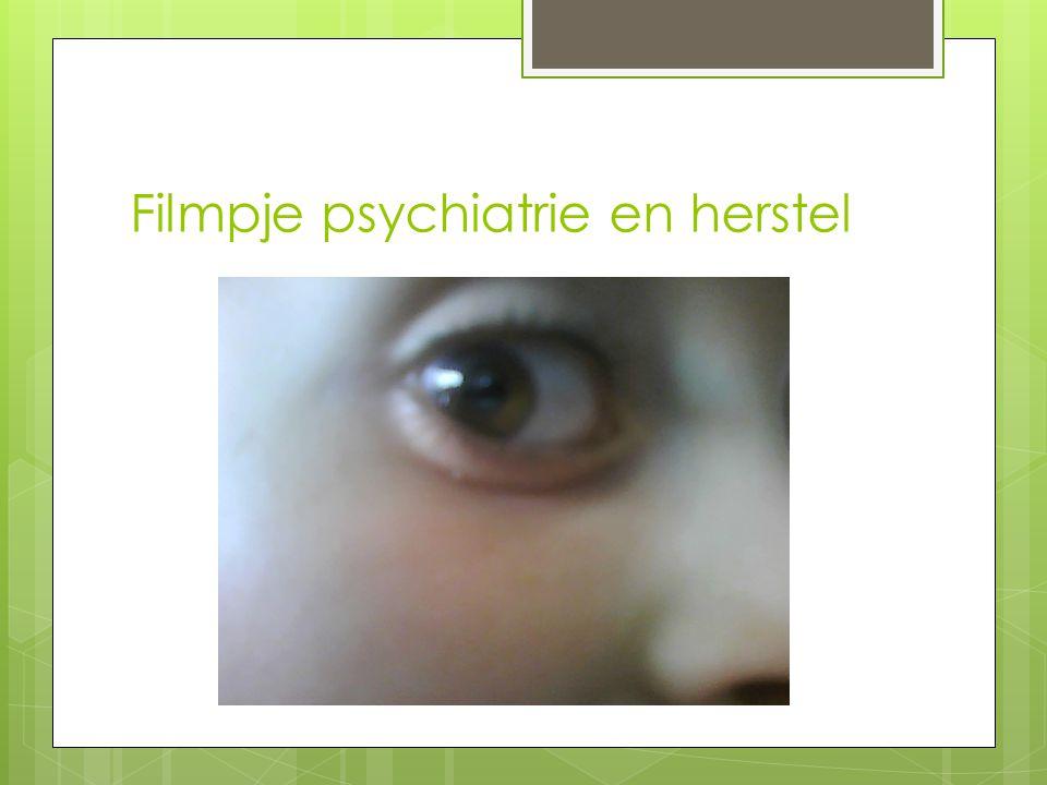 Filmpje psychiatrie en herstel