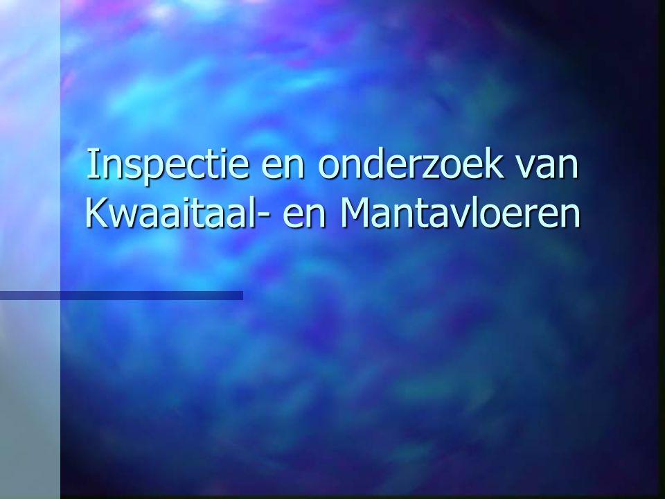 Inspectie en onderzoek van Kwaaitaal- en Mantavloeren