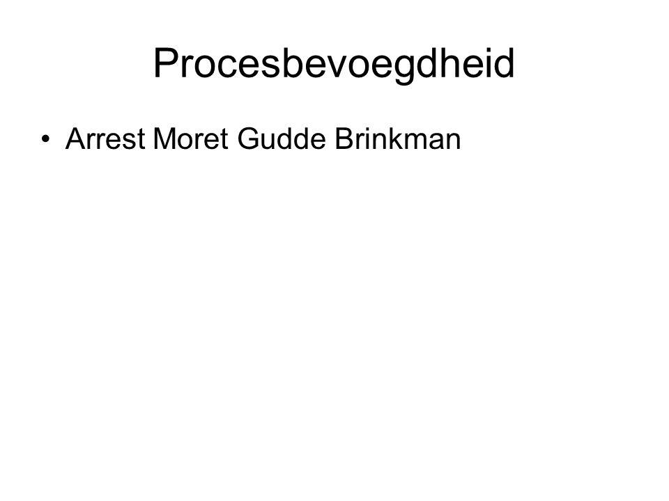 Procesbevoegdheid Arrest Moret Gudde Brinkman
