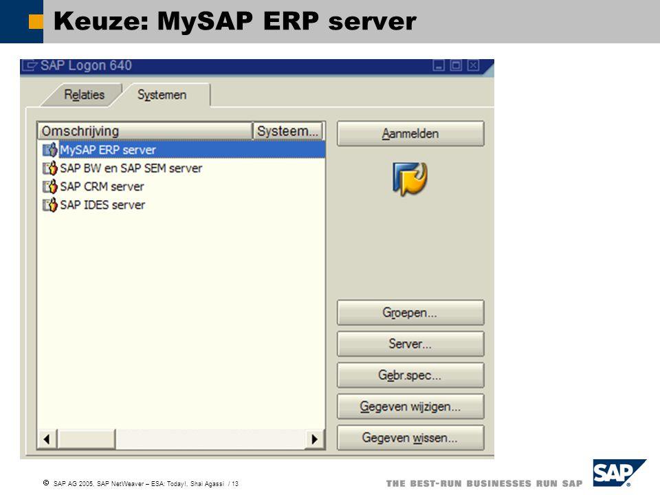 Keuze: MySAP ERP server