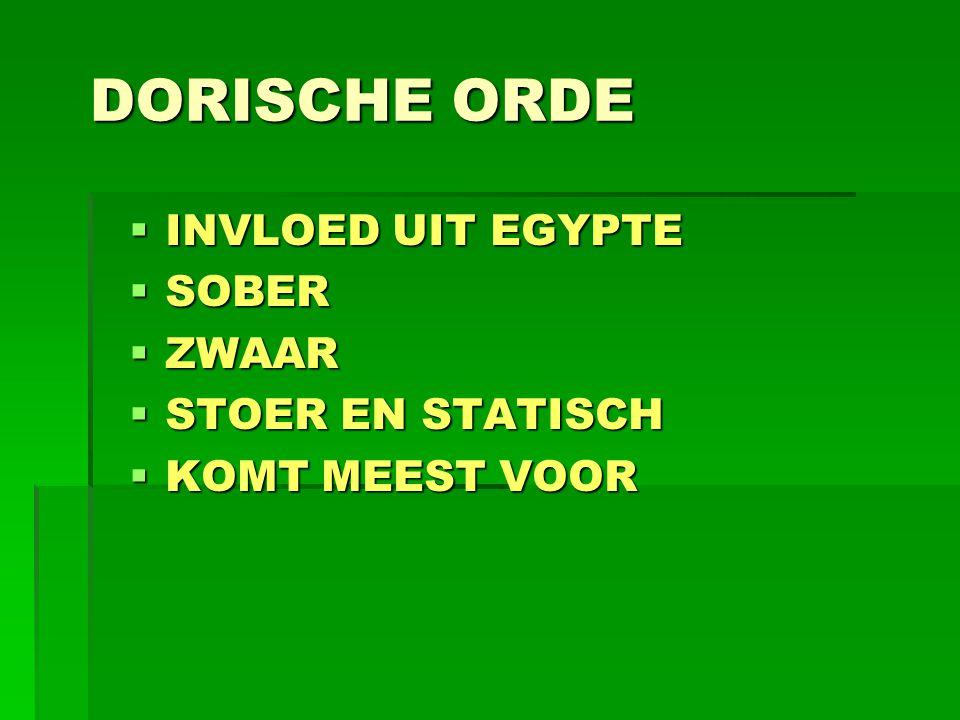 DORISCHE ORDE INVLOED UIT EGYPTE SOBER ZWAAR STOER EN STATISCH