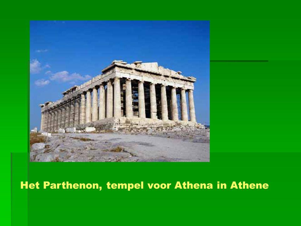 Het Parthenon, tempel voor Athena in Athene