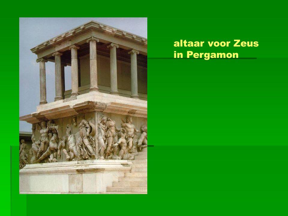 altaar voor Zeus in Pergamon