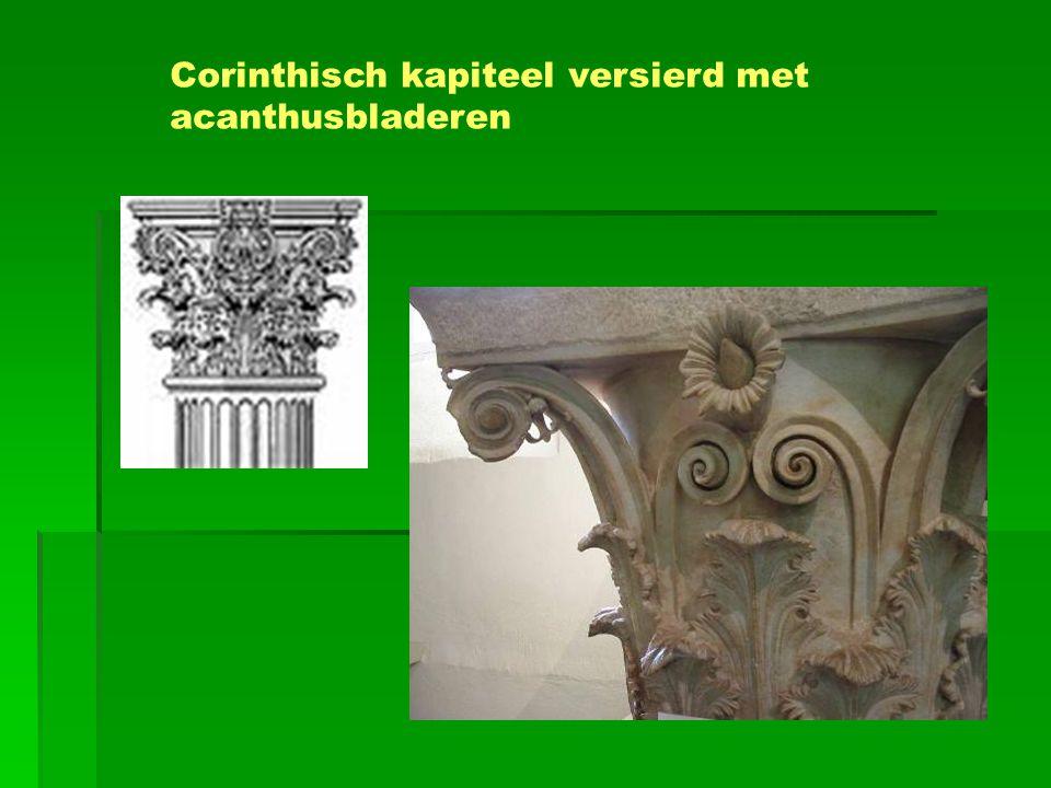 Corinthisch kapiteel versierd met acanthusbladeren
