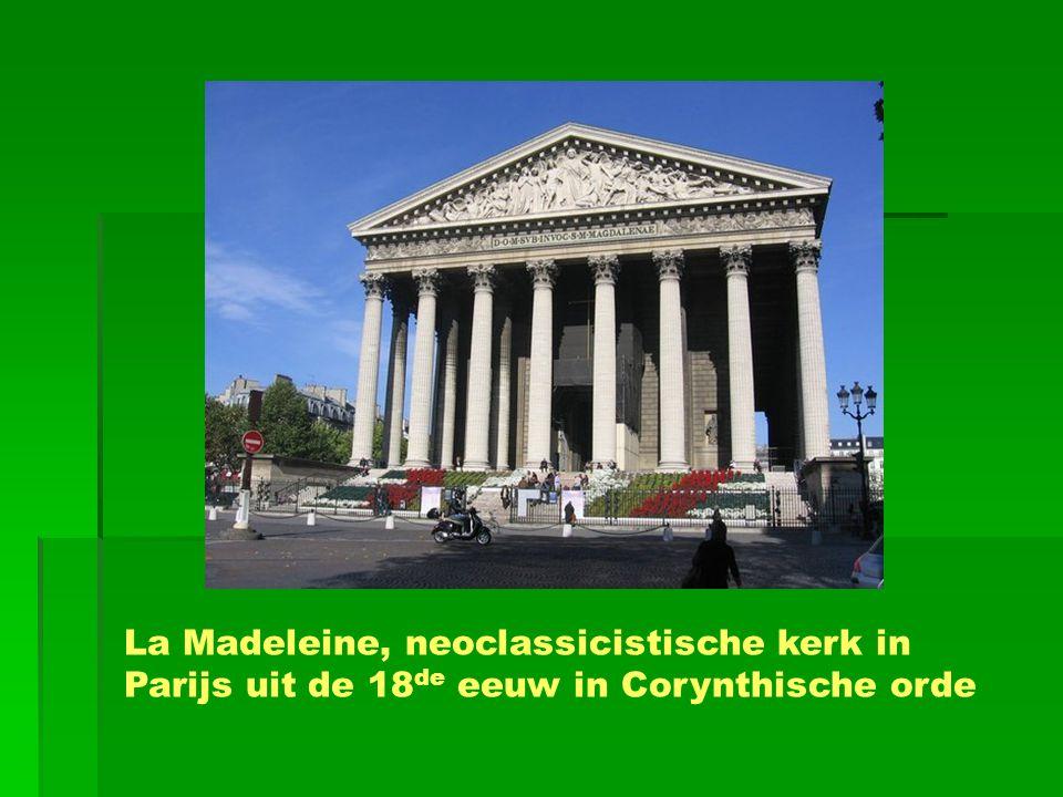La Madeleine, neoclassicistische kerk in Parijs uit de 18de eeuw in Corynthische orde