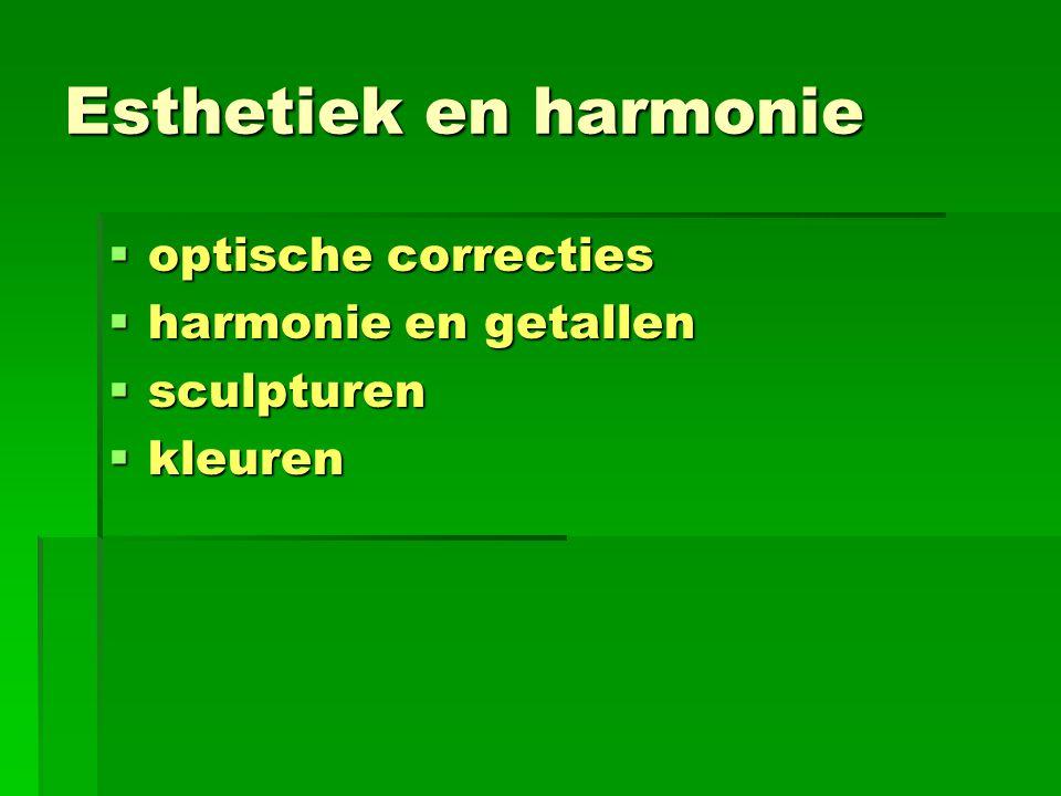 Esthetiek en harmonie optische correcties harmonie en getallen