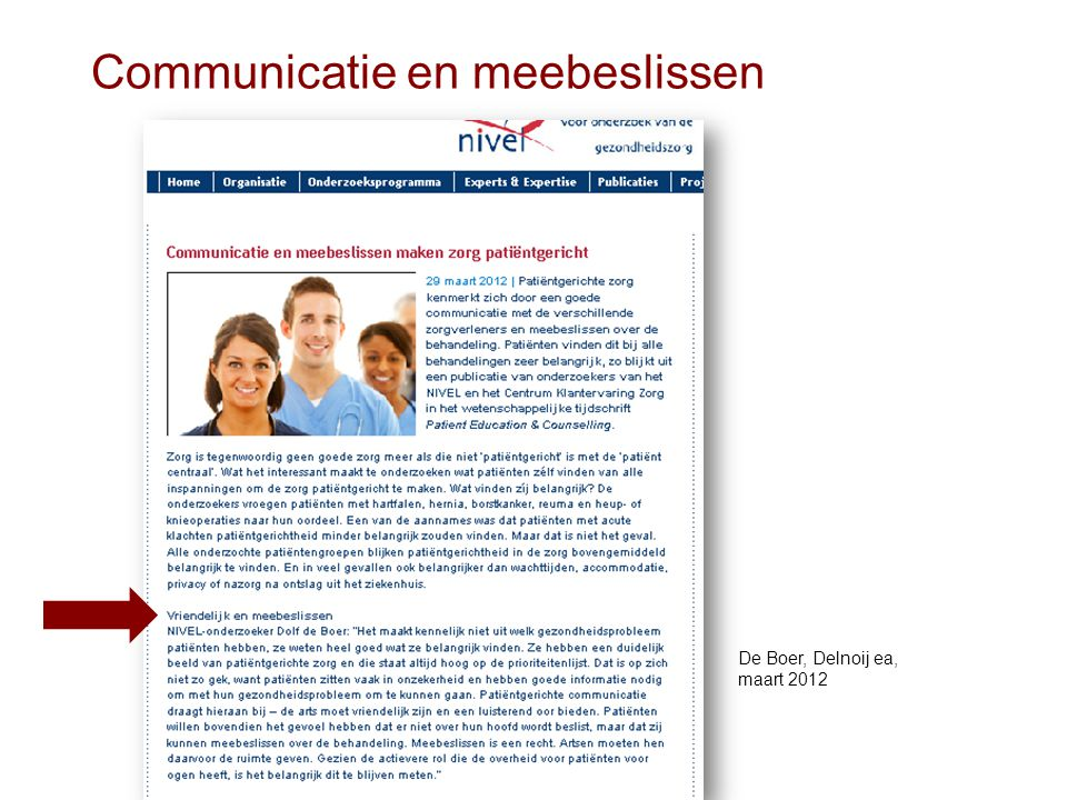 Communicatie en meebeslissen