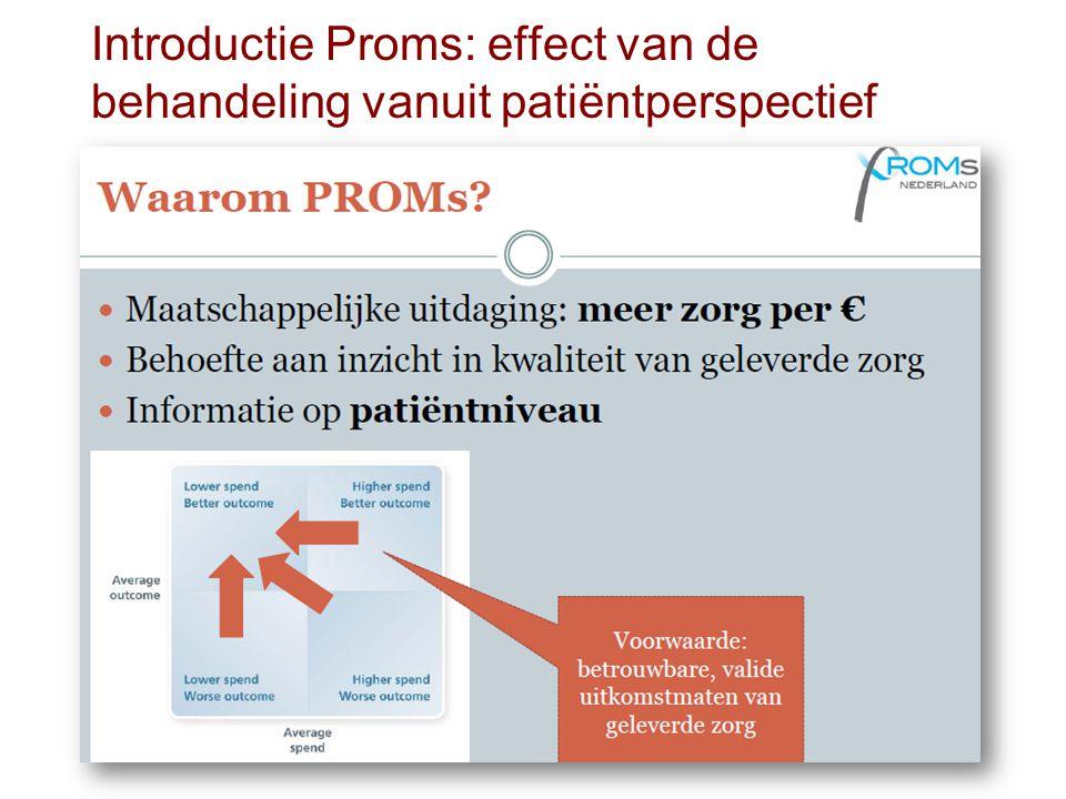 Introductie Proms: effect van de behandeling vanuit patiëntperspectief