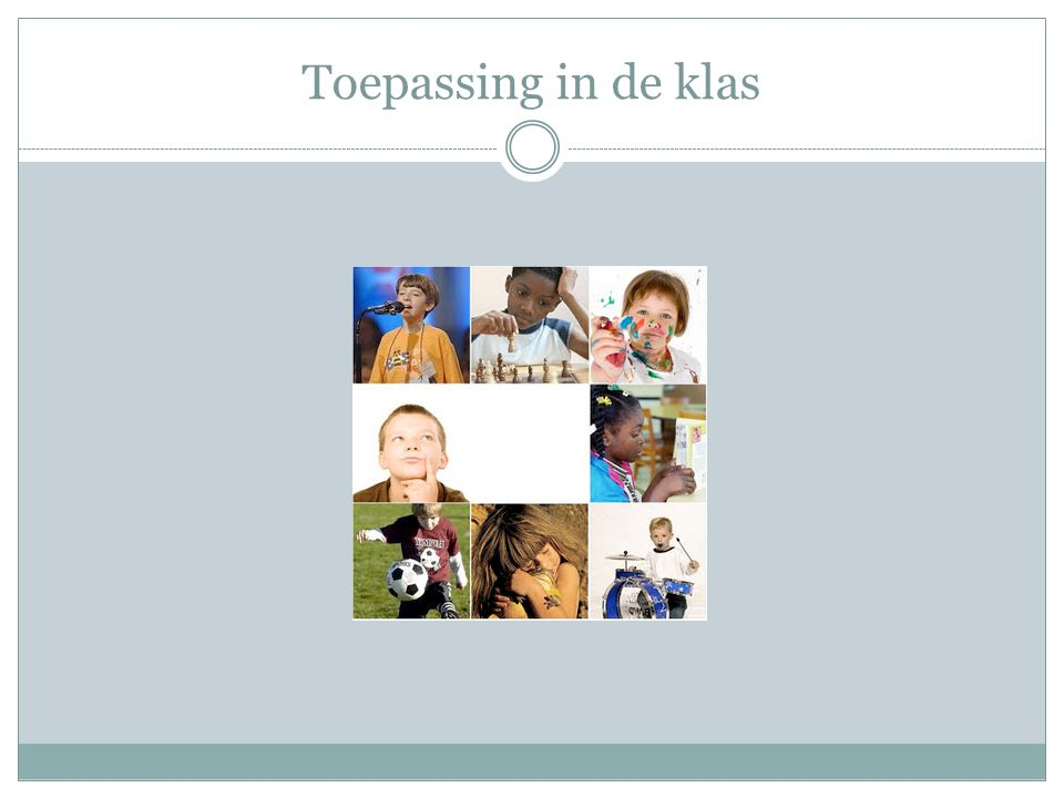 Toepassing in de klas