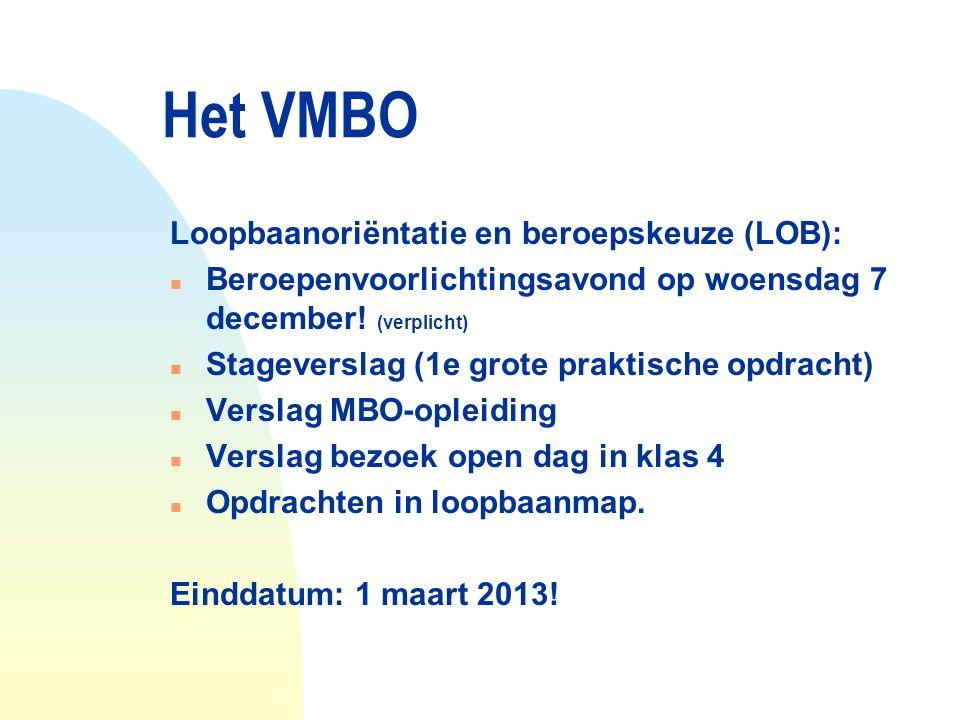Het VMBO Loopbaanoriëntatie en beroepskeuze (LOB):
