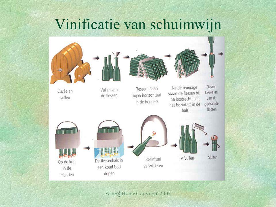 Vinificatie van schuimwijn