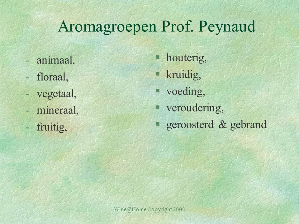 Aromagroepen Prof. Peynaud
