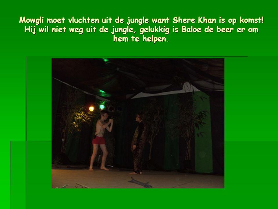 Mowgli moet vluchten uit de jungle want Shere Khan is op komst