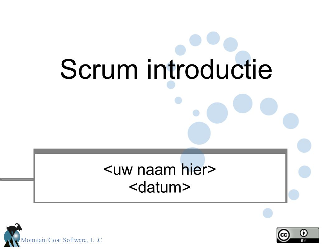 Scrum introductie <uw naam hier> <datum> 1