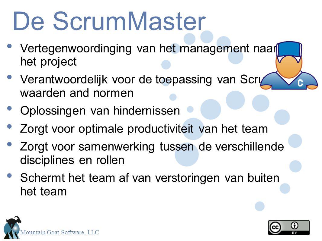 De ScrumMaster Vertegenwoordinging van het management naar het project