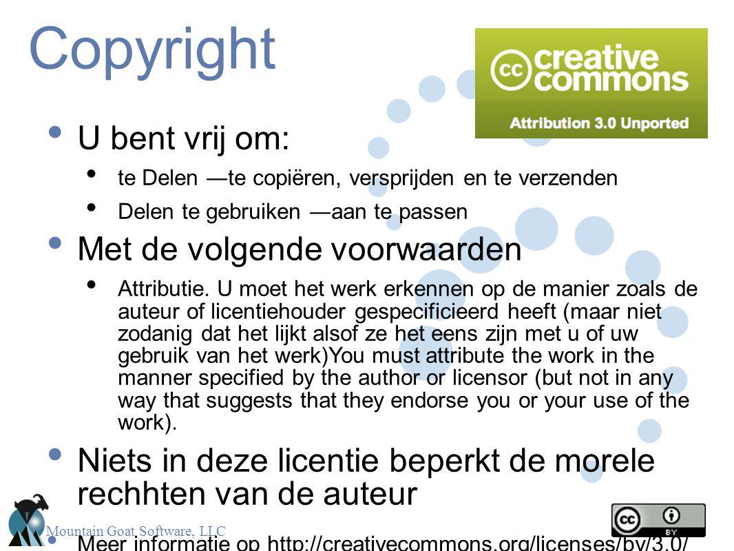 Copyright U bent vrij om: Met de volgende voorwaarden