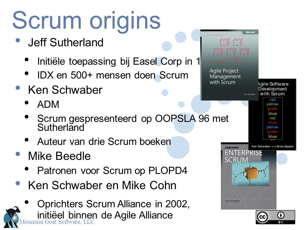 Scrum origins Jeff Sutherland Ken Schwaber Mike Beedle