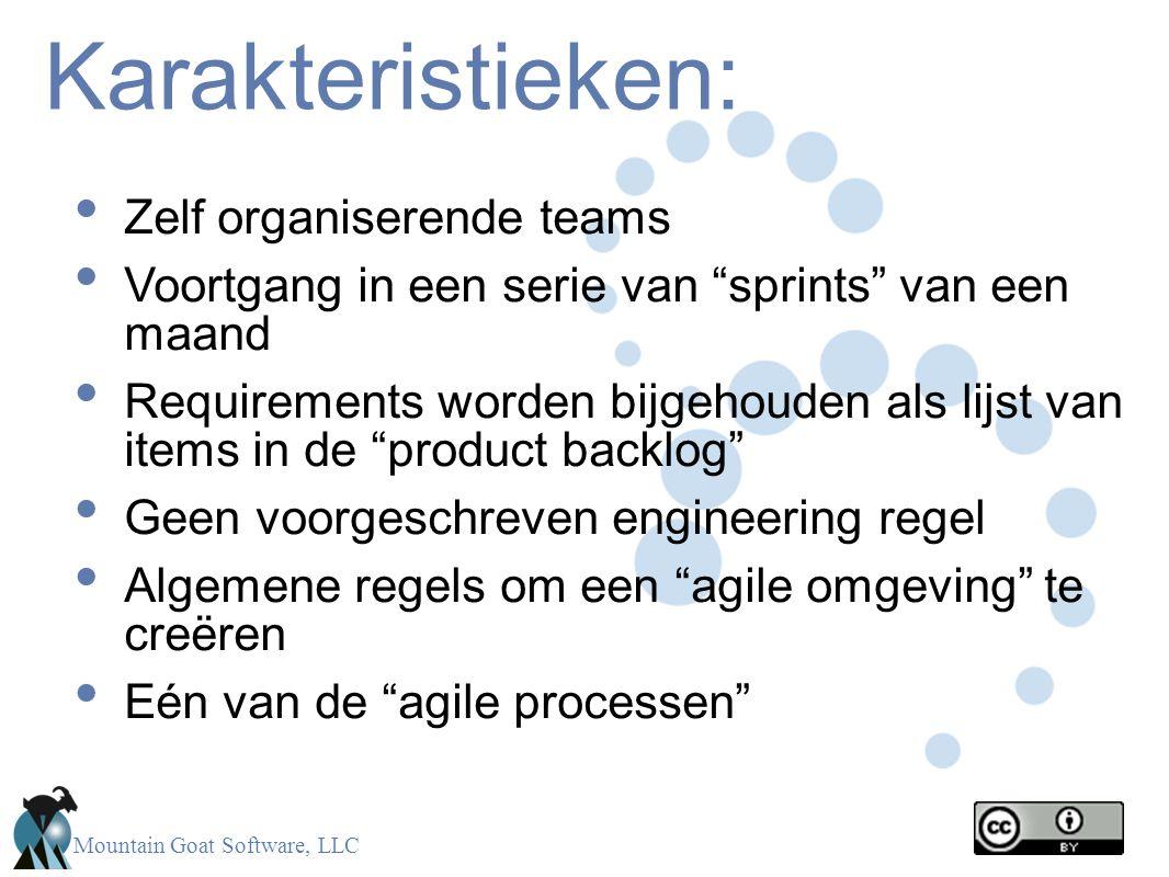 Karakteristieken: Zelf organiserende teams