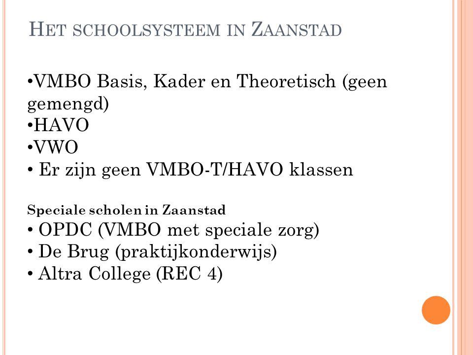Het schoolsysteem in Zaanstad