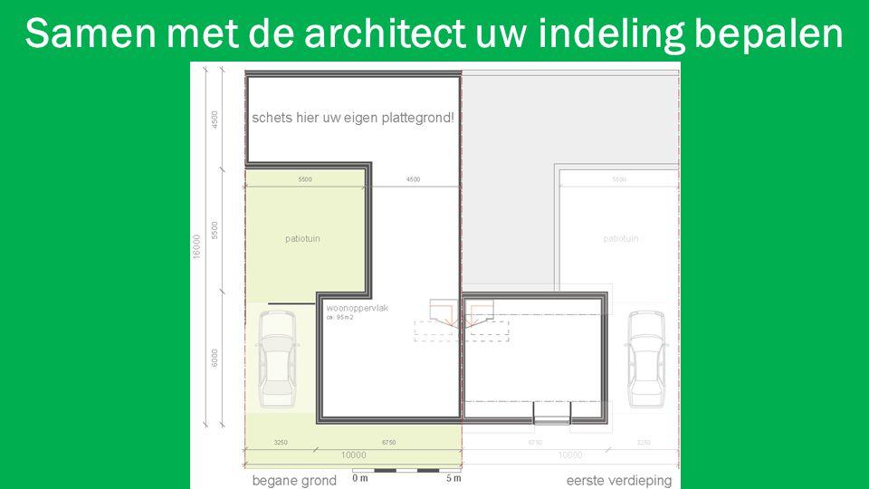 Samen met de architect uw indeling bepalen
