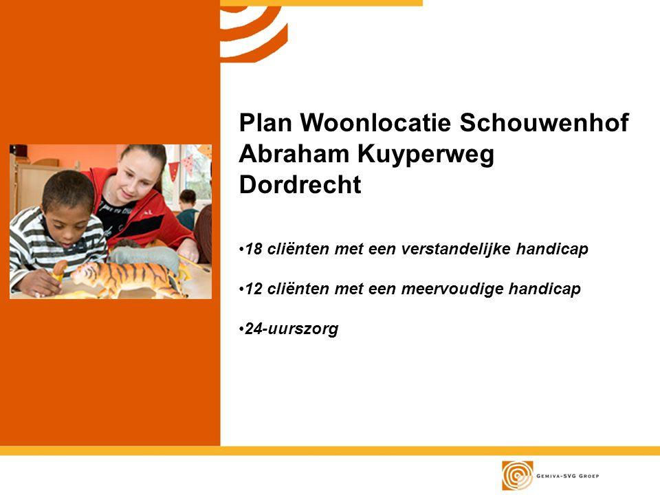 Plan Woonlocatie Schouwenhof Abraham Kuyperweg Dordrecht