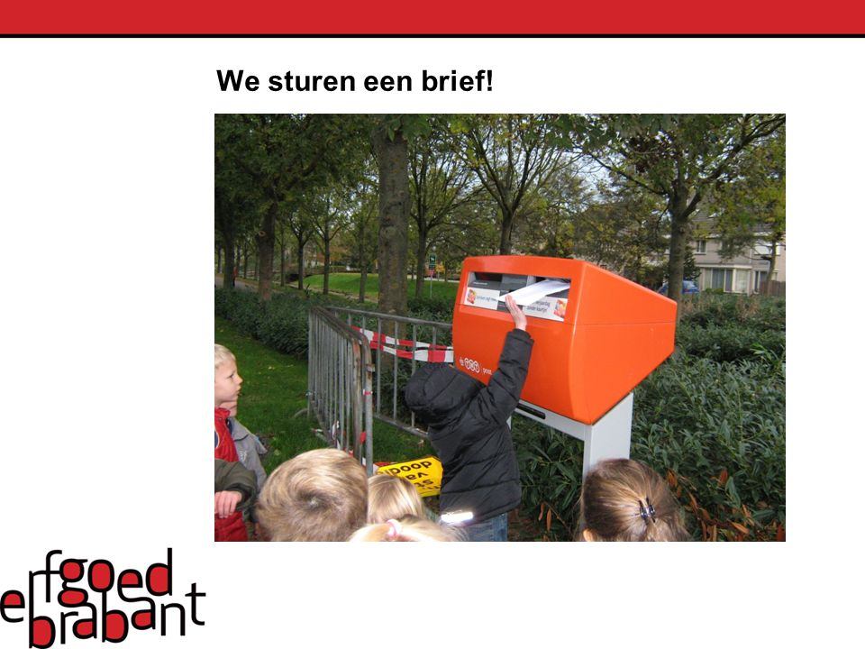We sturen een brief!