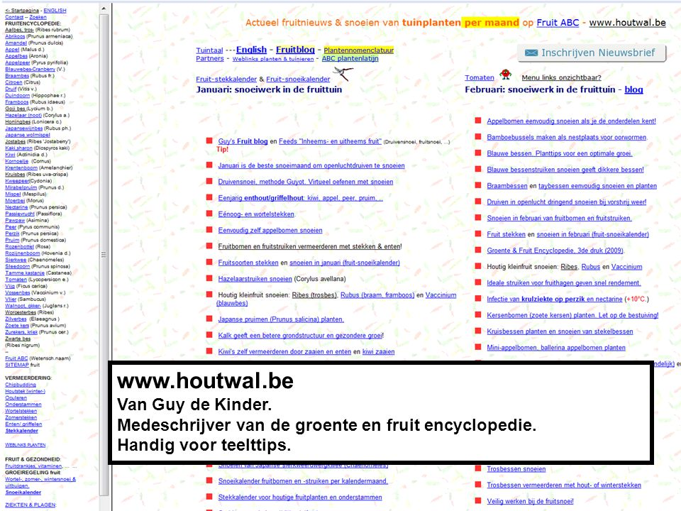 www.houtwal.be Van Guy de Kinder.