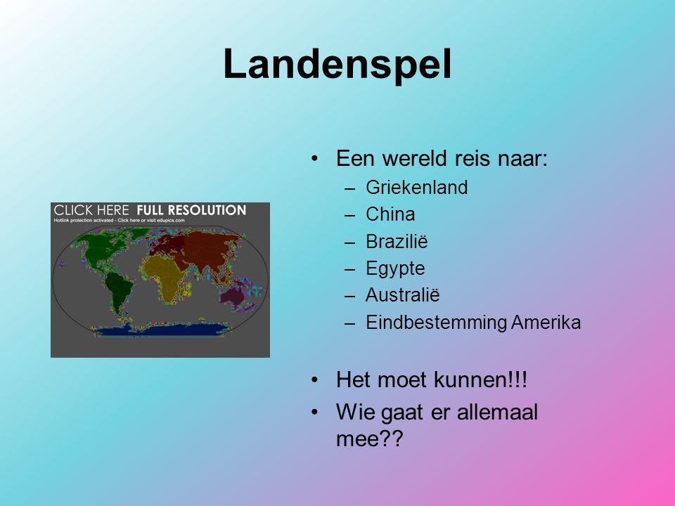 Landenspel Een wereld reis naar: Het moet kunnen!!!