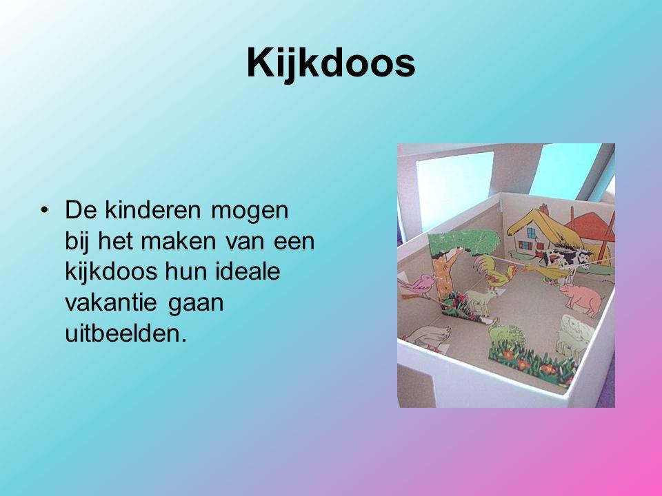 Kijkdoos De kinderen mogen bij het maken van een kijkdoos hun ideale vakantie gaan uitbeelden.