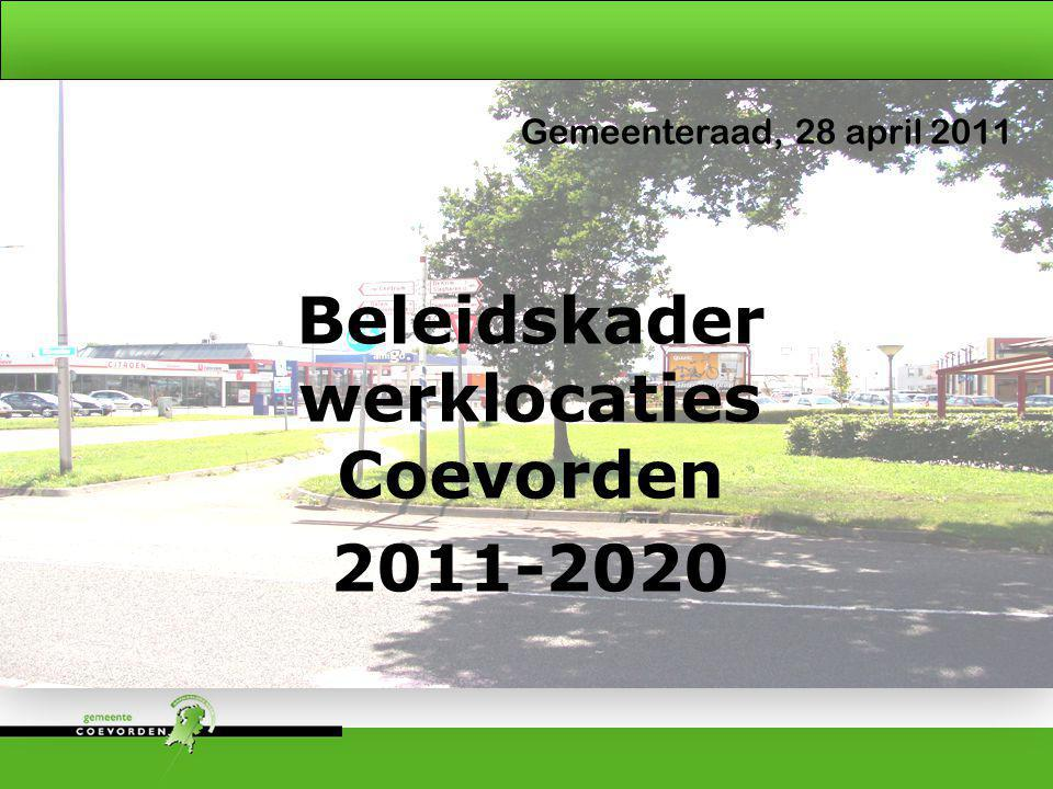 Beleidskader werklocaties Coevorden 2011-2020
