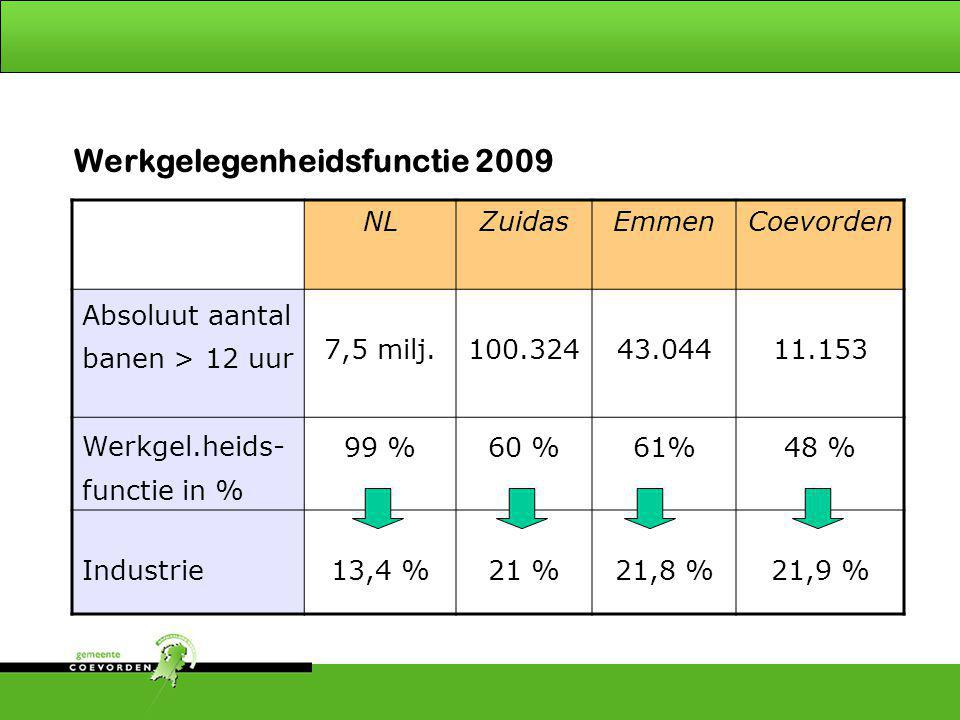 Werkgelegenheidsfunctie 2009