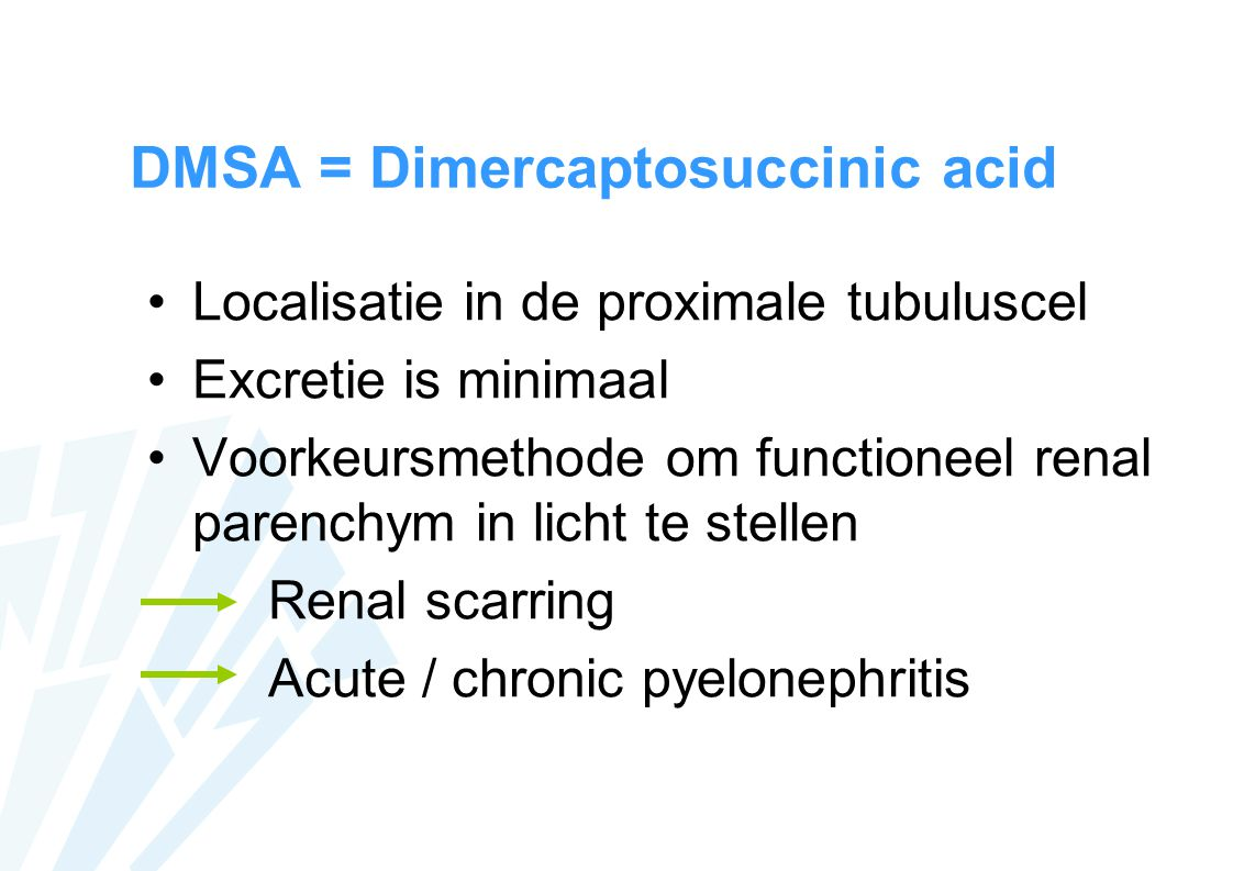 DMSA = Dimercaptosuccinic acid
