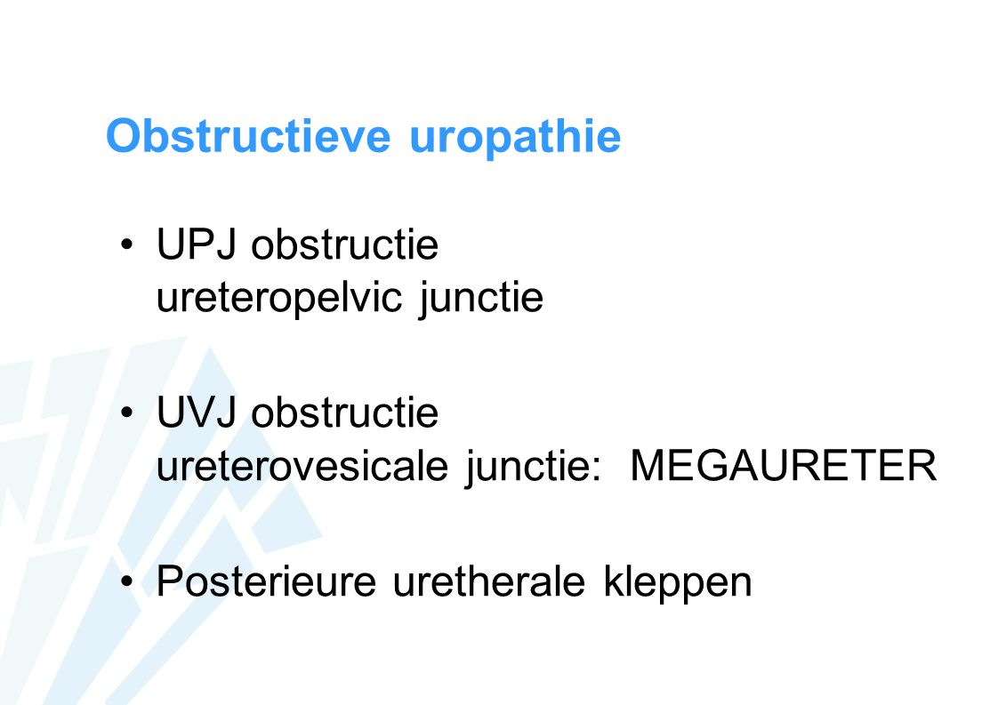 Obstructieve uropathie