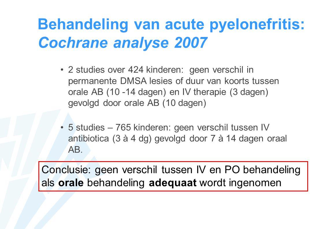 Behandeling van acute pyelonefritis: Cochrane analyse 2007