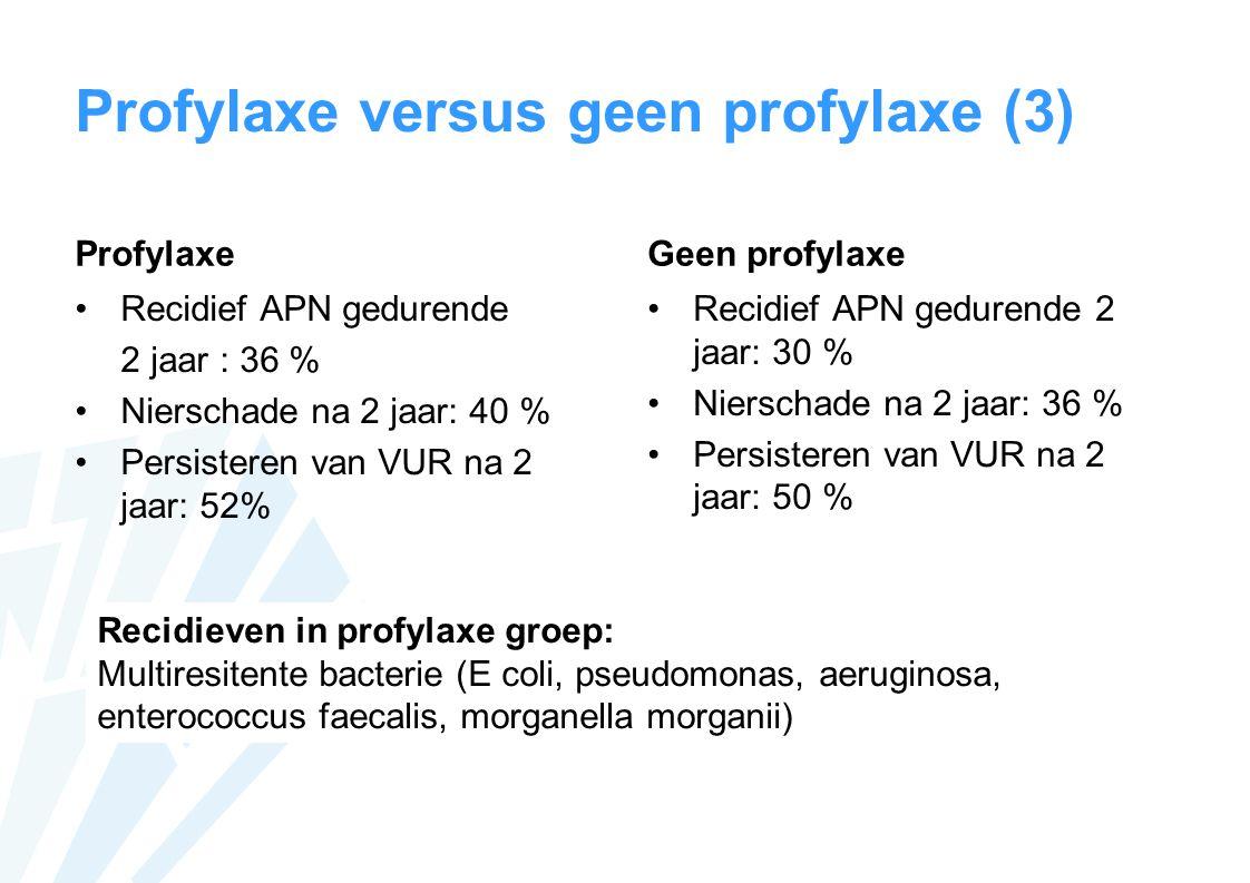 Profylaxe versus geen profylaxe (3)