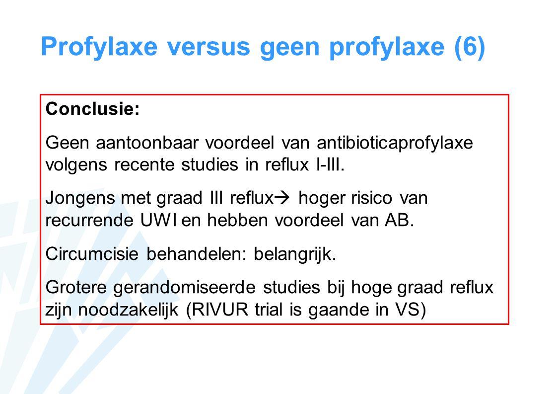 Profylaxe versus geen profylaxe (6)