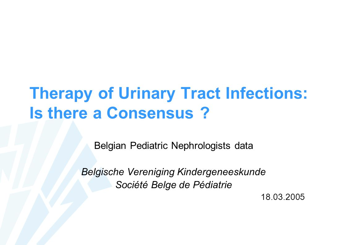 Therapy of Urinary Tract Infections: Is there a Consensus