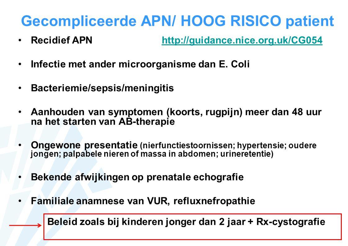 Gecompliceerde APN/ HOOG RISICO patient