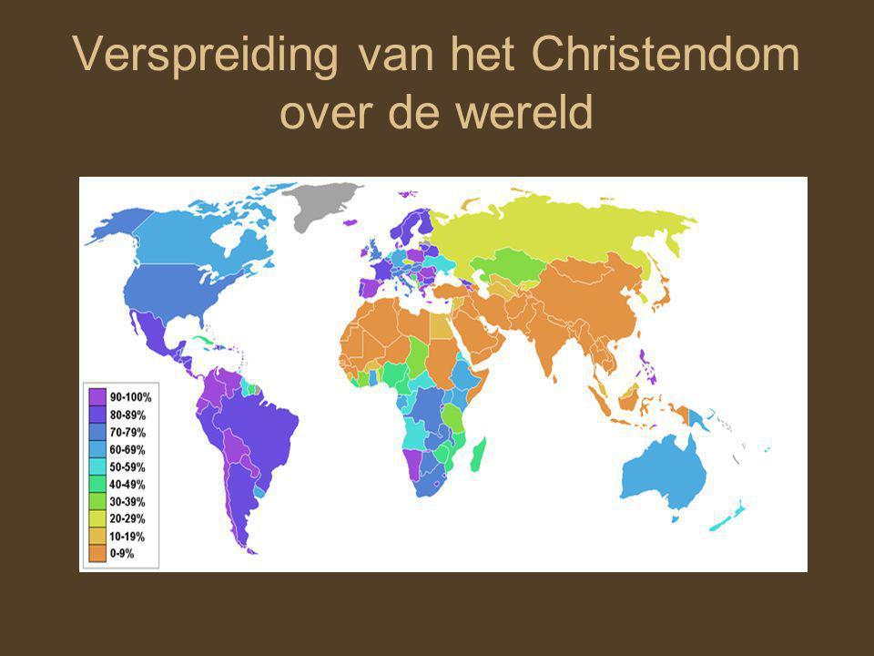 Verspreiding van het Christendom over de wereld