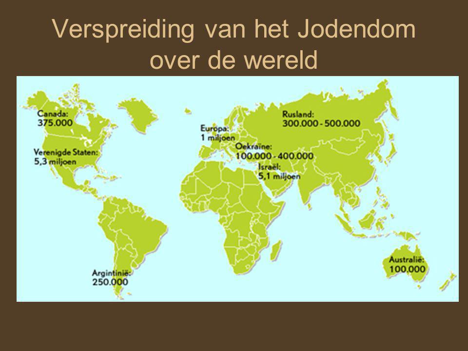 Verspreiding van het Jodendom over de wereld