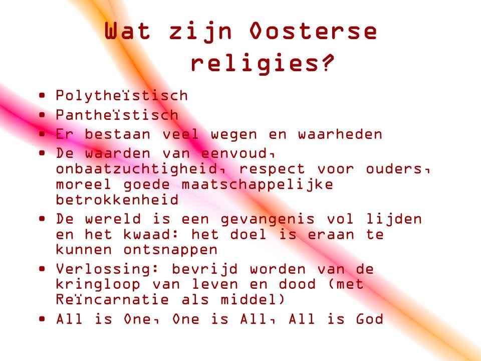 Wat zijn Oosterse religies