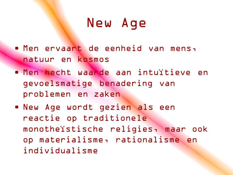 New Age Men ervaart de eenheid van mens, natuur en kosmos